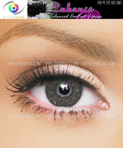 Enhance Black Gold Contact Lenses