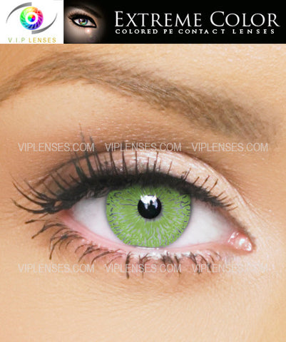 Extreme Flirtatious Green Contact Lenses