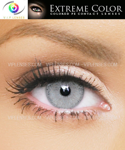 Extreme Passionate Platinum Contact Lenses