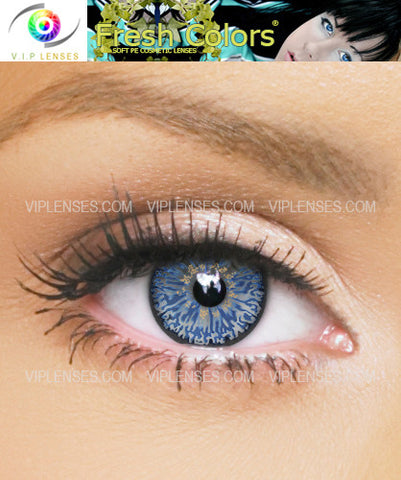 Fresh Colors Dark Blue Contact Lenses