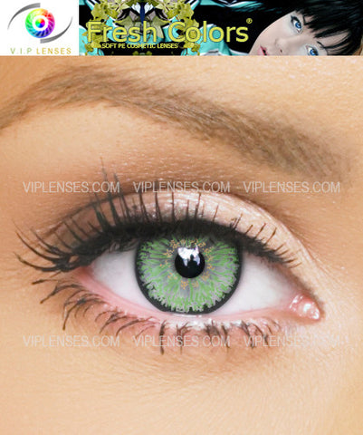 Fresh Colors Green Contact Lenses