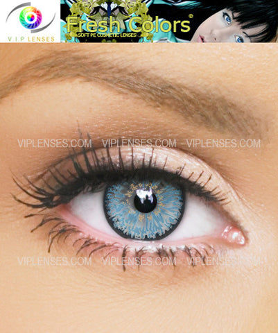Fresh Colors Light Blue Contact Lenses