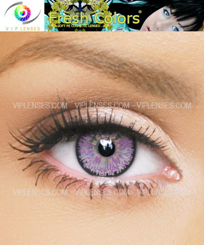 Fresh Colors Violet Contact Lenses