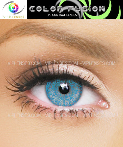 Fusion Electric Blue Contact Lenses
