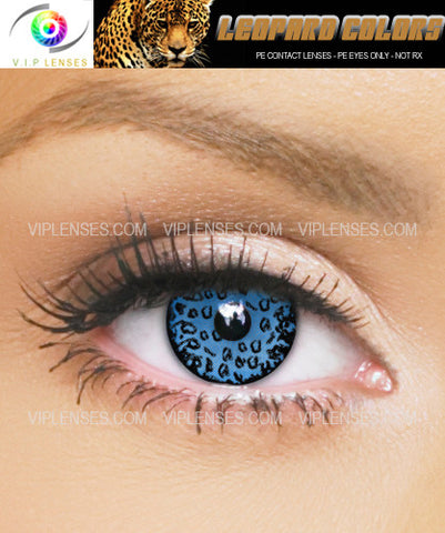 Leopard Eyes Blue Contact Lenses