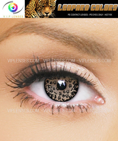 Leopard Eyes Black Contact Lenses