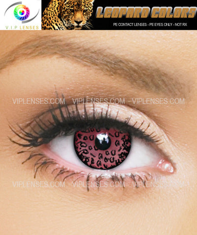 Leopard Eyes Red Contact Lenses