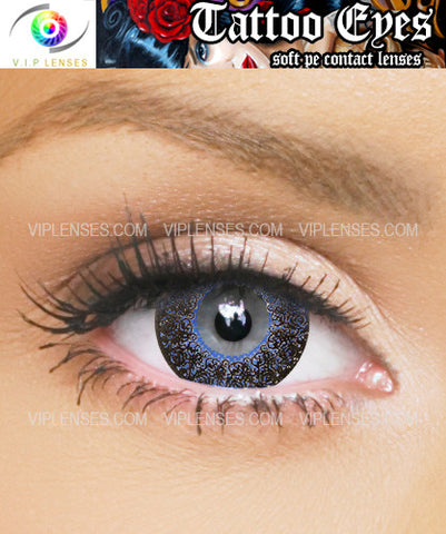 Tattoo Eyes Blue Contact Lenses