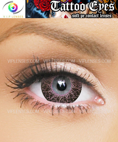 Tattoo Eyes Pink Contact Lenses