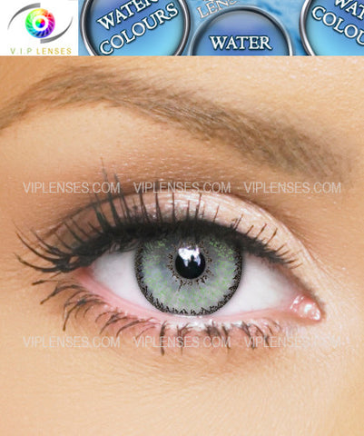 Water Colours Green Contact Lenses