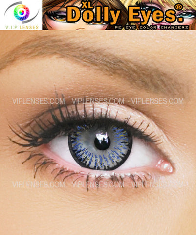XL Dolly Eyes Dark Blue Contact Lenses