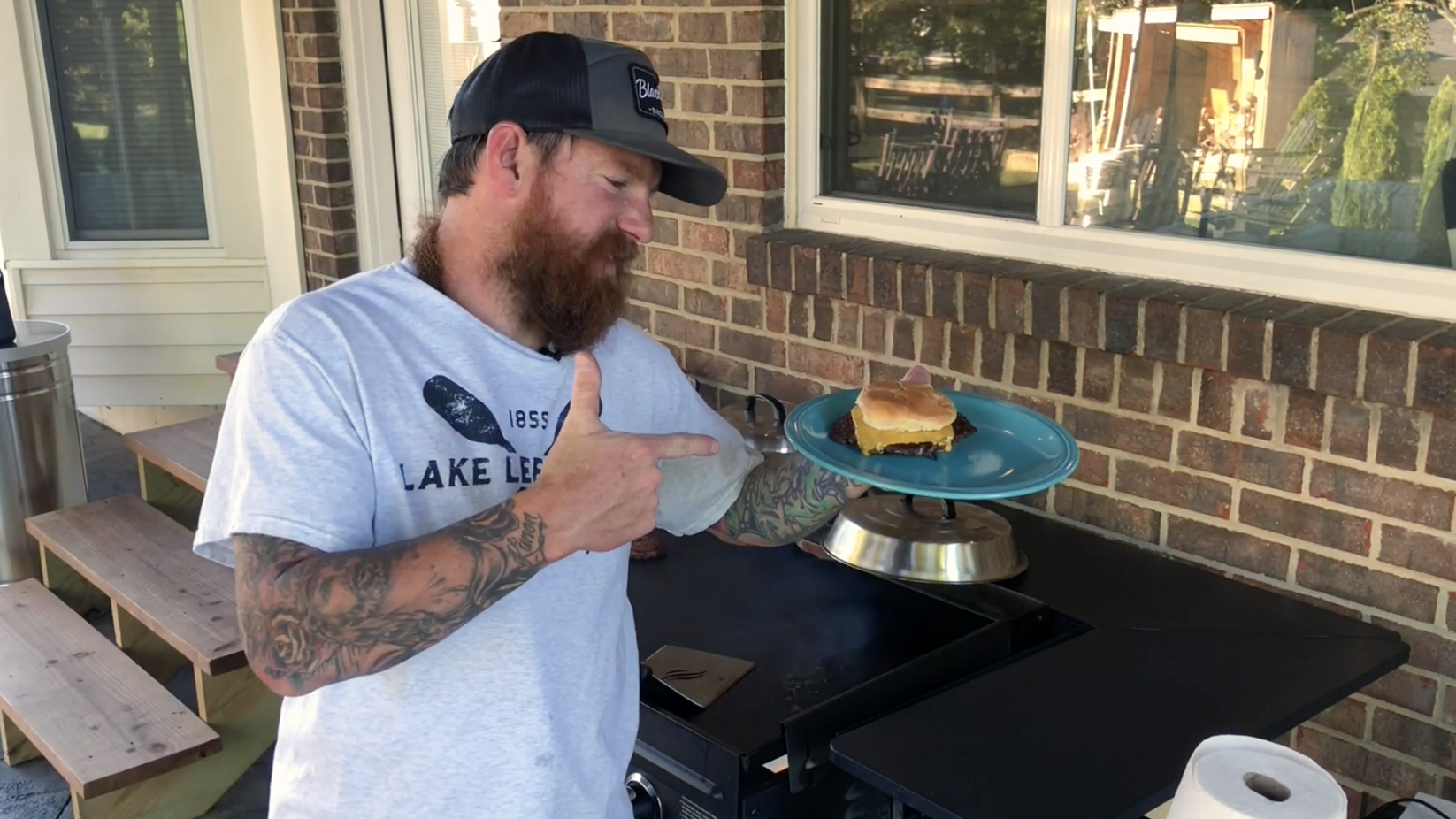 Blackstone Beard National Cheeseburger Day 2019