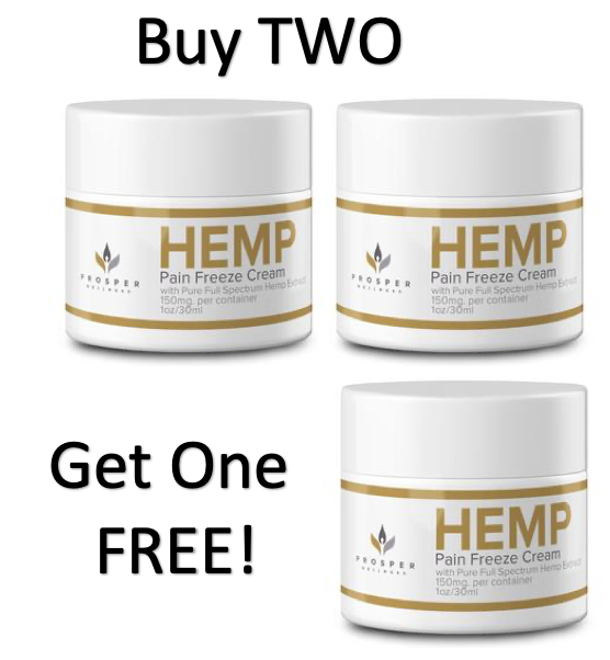 5-IN-1 FULL SPECTRUM HEMP EXTRACT PAIN FREEZE CREAM, Buy 2 Get 1 FREE