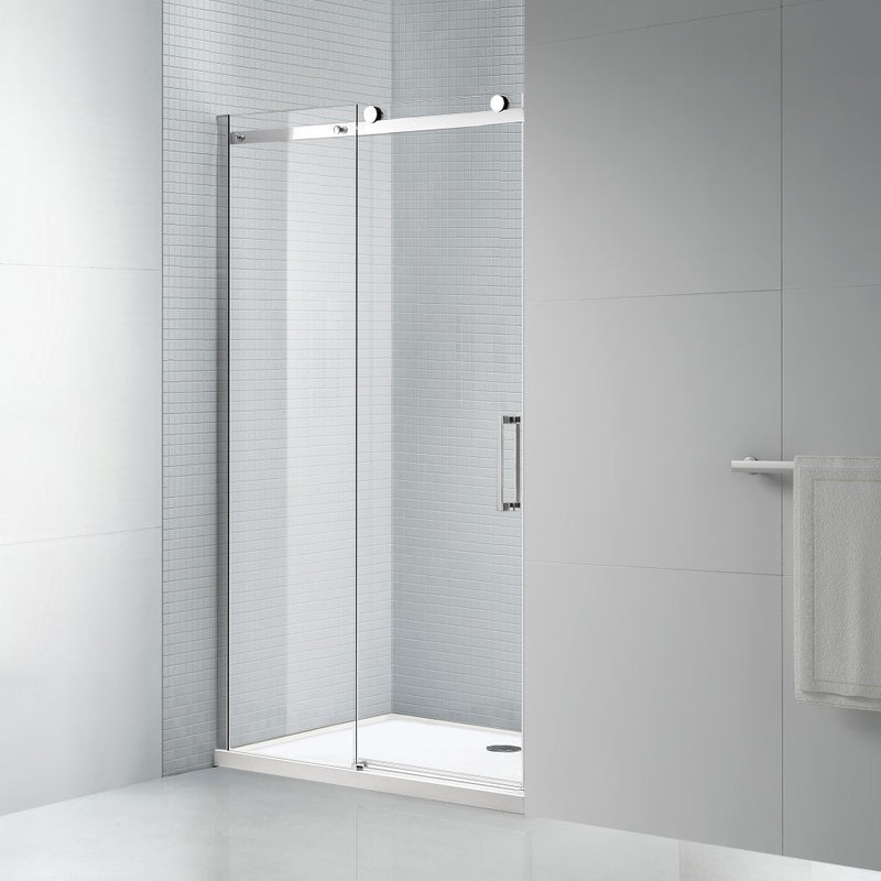 Tidy 8mm Tempered Glass Sliding Shower Door With Bar Handle All We Trade