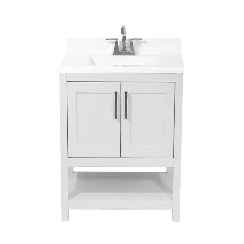 Tufino 25 In Bath Vanity With Cultured Marble Vanity Top All We Trade