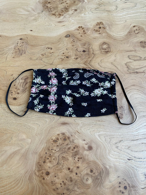 3X Jacquard Paisley and Floral Print Face Mask