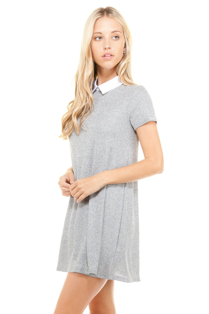 Women's Loose Fitted Collar T-shirt Dress