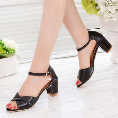 New 2018 Sandals High Heel Sandals Women Ankle