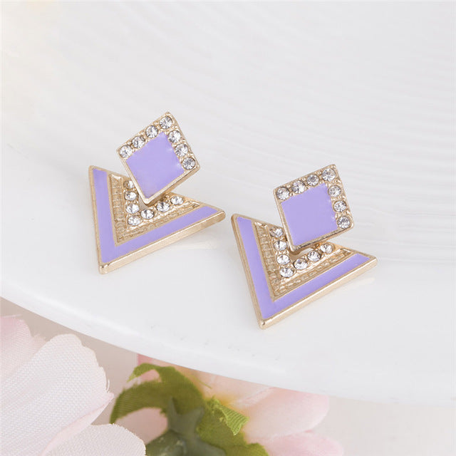 Geometric Drop Triangle Earrings