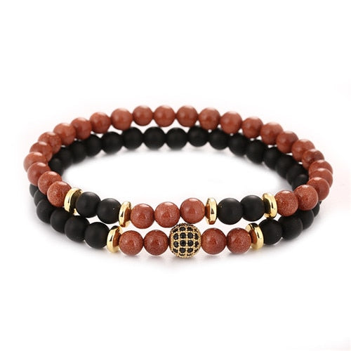 2pc/sets Natural stone Bracelet