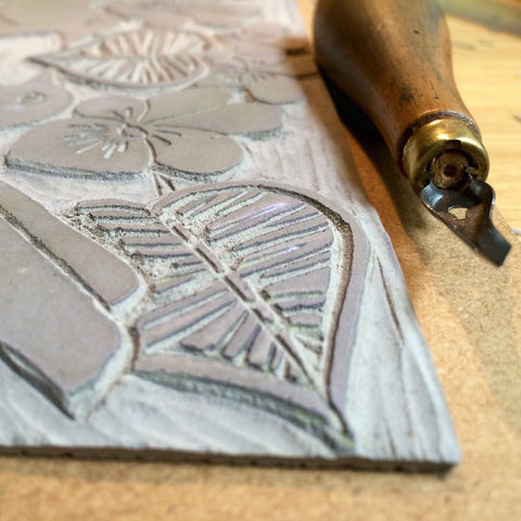 lino cutting tool and lino tile