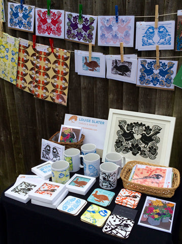 Louise Slater Cards & Prints at Thames Ditton Farmers' Market