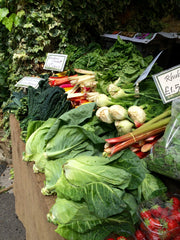 Fresh vegetables at Thames Ditton Farmers' Market