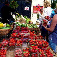 Strawberries at Thames Ditton Farmers' Market