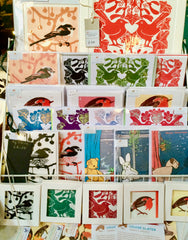 Louise Slater Cards Winter Market Display