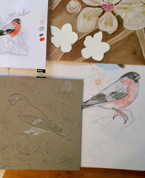 Bullfinch designs by Louise Slater