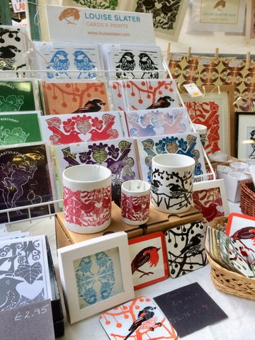 Louise Slater Cards at the Illustrators' Christmas Fair