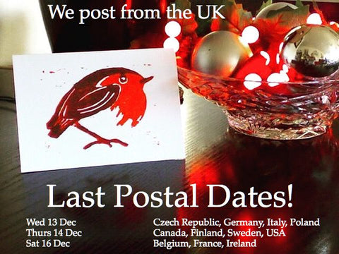 Christmas postal dates Louise Slater Cards
