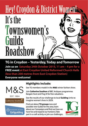 24 Oct Townswomen's Guild Roadshow flyer 2015
