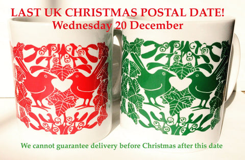 UK Christmas postal dates Louise Slater Cards