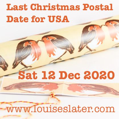 Christmas Orders 2020 from Louise Slater Cards
