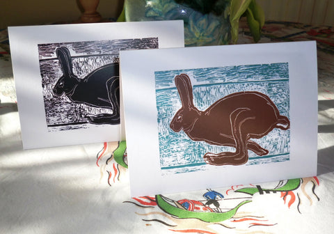 Running Hare cards by Louise Slater
