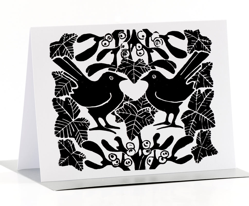 Black & white Christmas card by Louise Slater