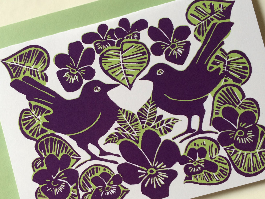 Lovebirds Card Louise Slater Cards & Prints