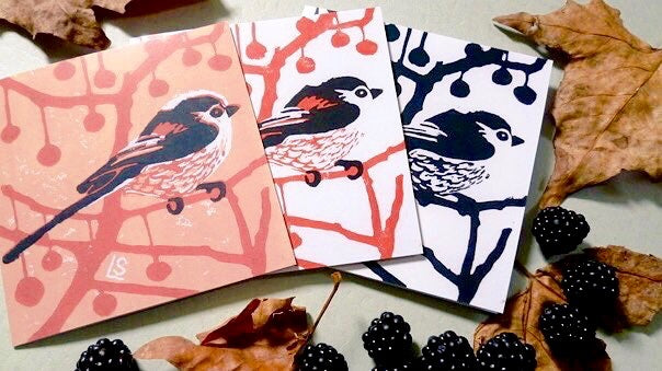 Longtails multi pack of 3 Greeting Cards