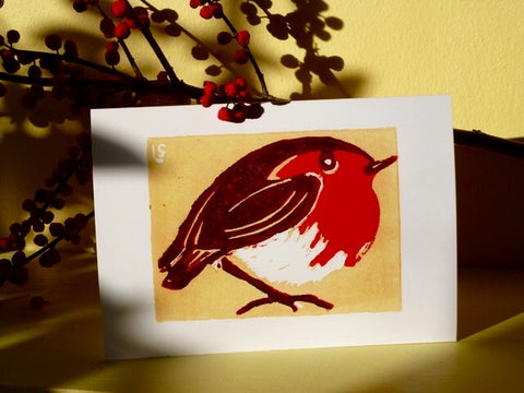 Yellow Robin - Pack of 5 Christmas Cards