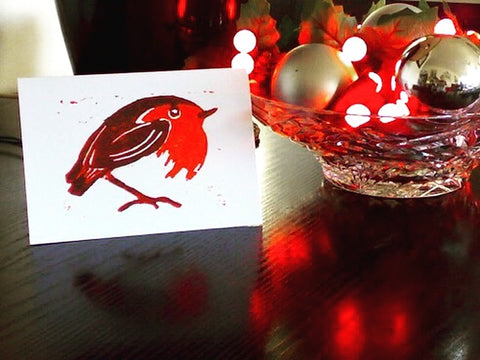 White Robin - Pack of 5 Christmas Cards
