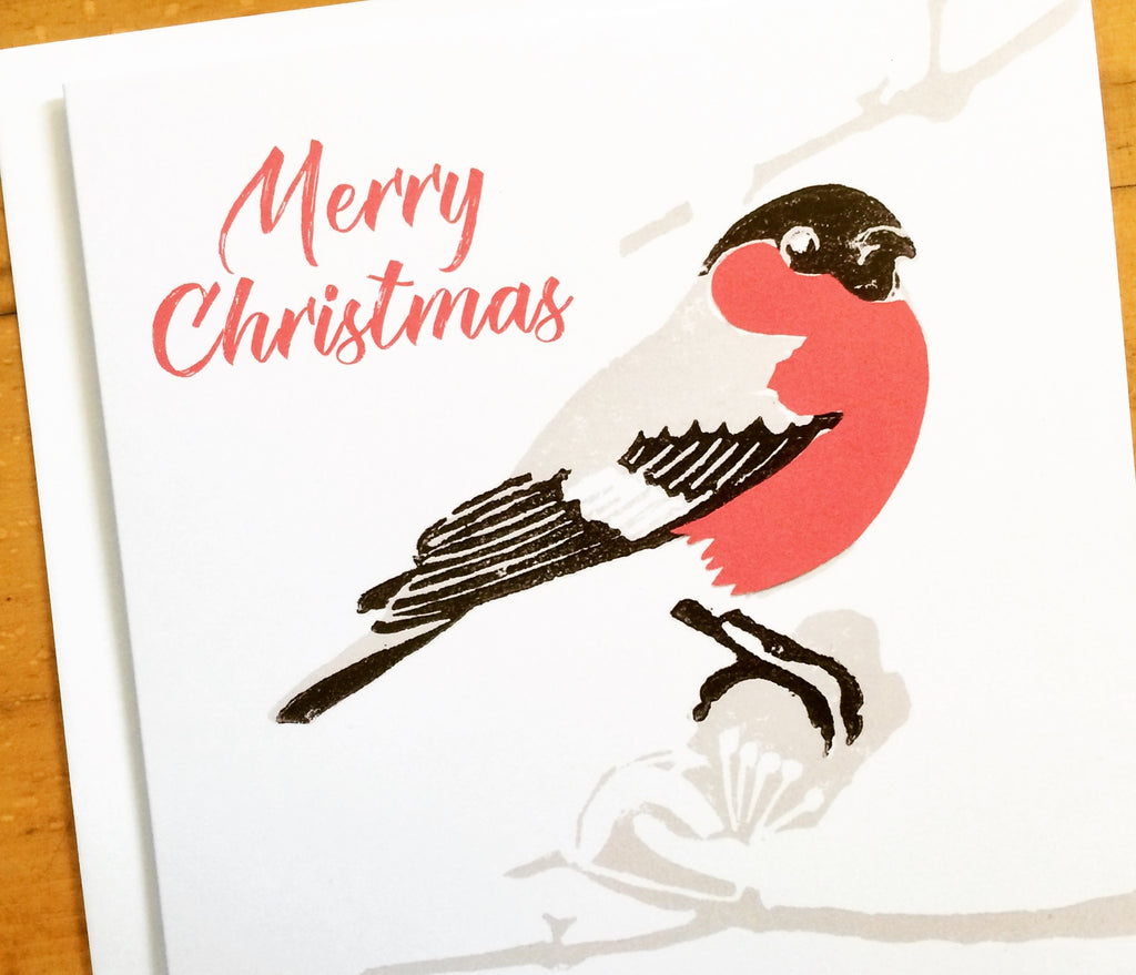 Bullfinch Christmas Cards by Louise Slater