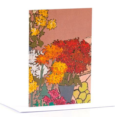Flower Stall detail - Greeting Card