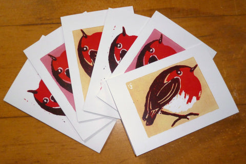 Robins Multi - Pack of 6 Christmas Cards