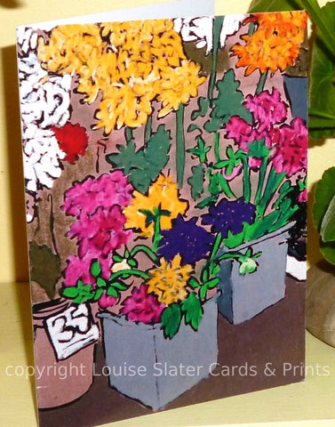 Flower Stall detail Greeting Card