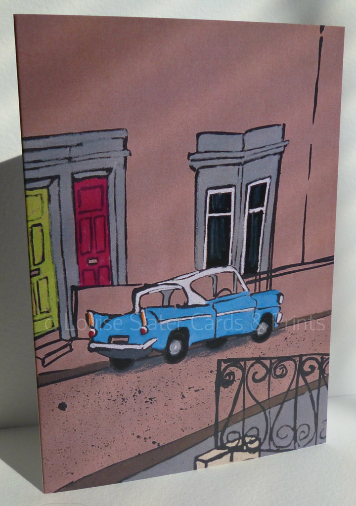 Ford Anglia A6 greeting card