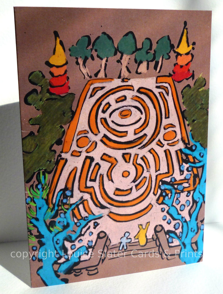 Labyrinth A6 greeting card