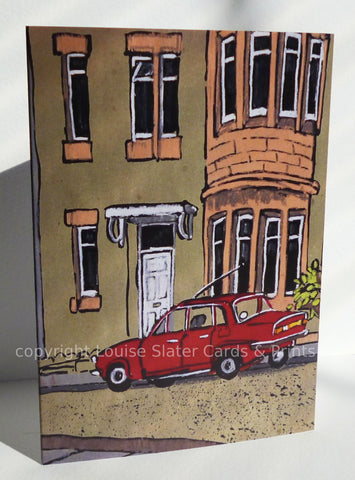 Red Car Greeting Card