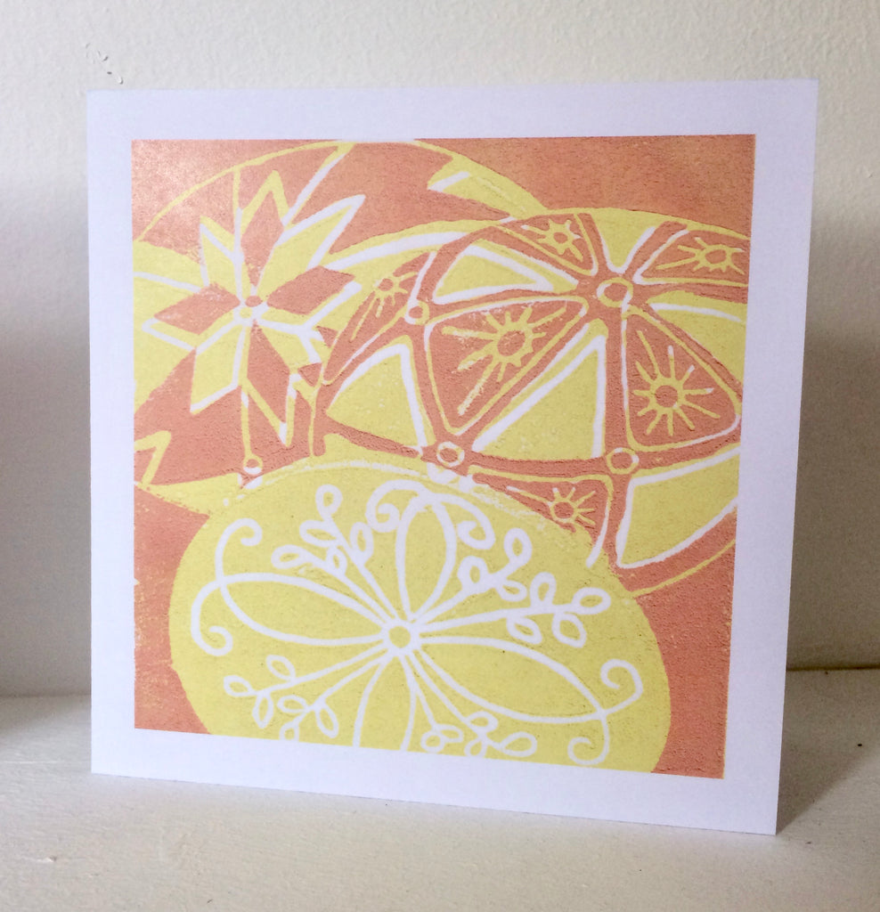 Golden Eggs Easter Card by Louise Slater