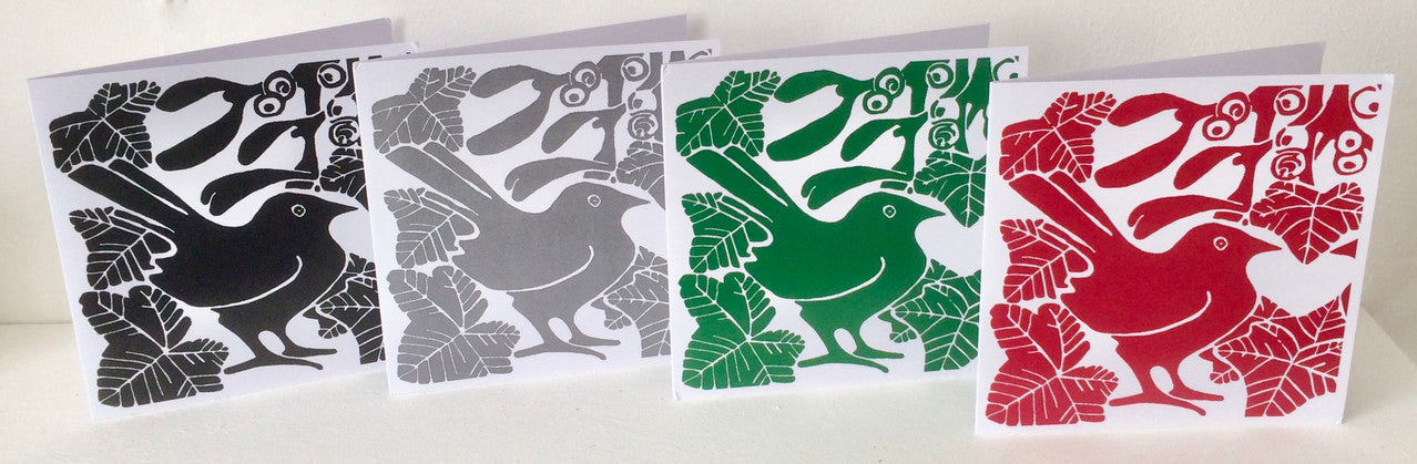 Square Mistletoe Cards by Louise Slater